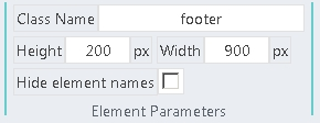 Element Parameters block