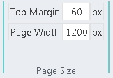 Page Size block